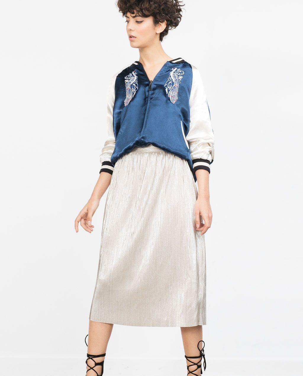 7ff137cd4 FALDA PLATEADA PLISADA | - WISH LIST - | Skirts, Fashion outfits ...