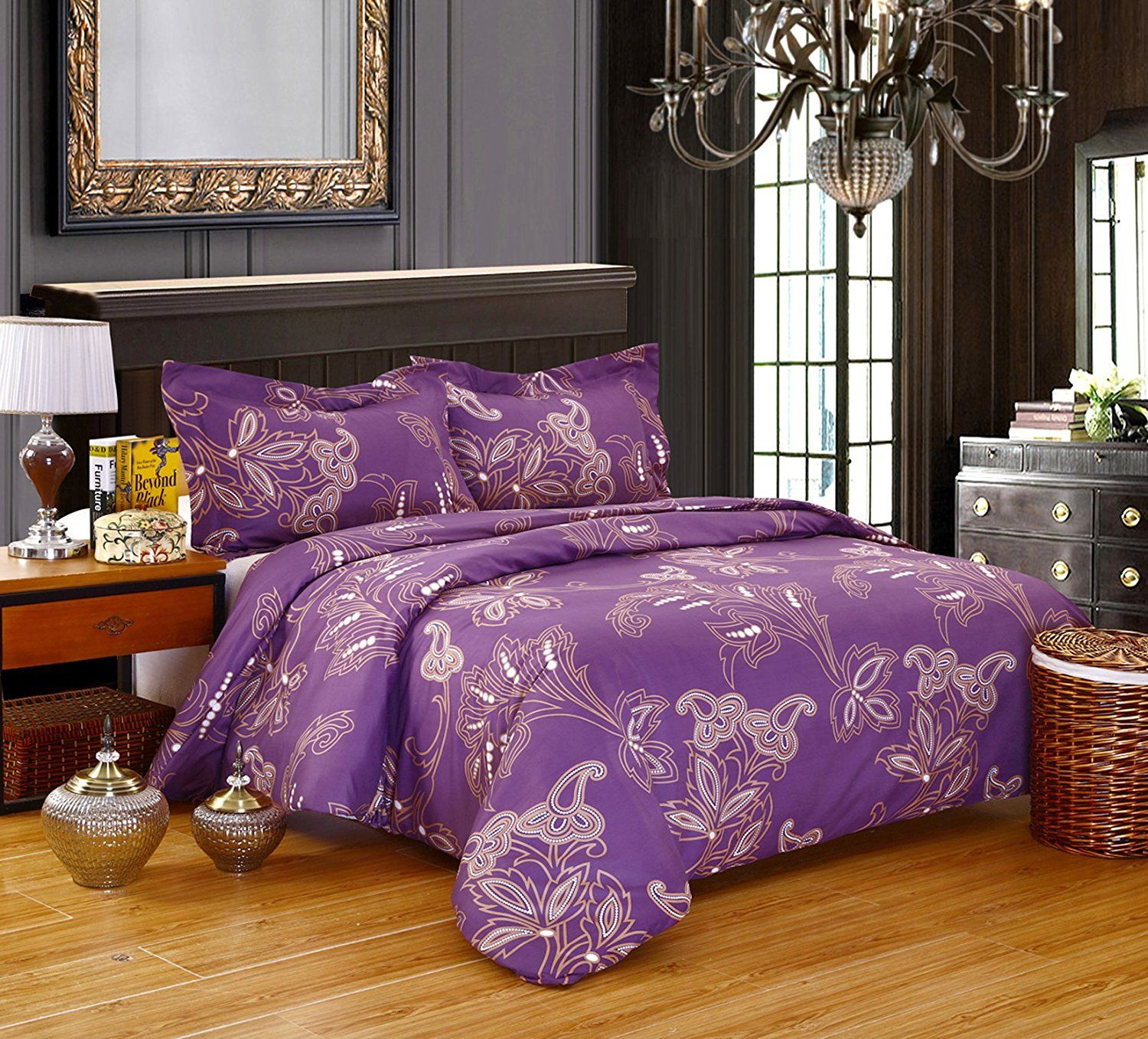 linens pc king purple brenna lilac set comforter products bed bedrooms
