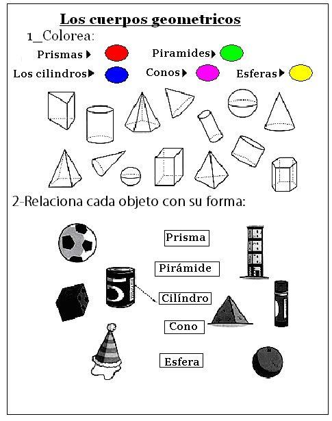 Educando Con Amor Cuerpos Geometricos Actividades De Geometria Figuras Y Cuerpos Geometricos Prismas Y Piramides