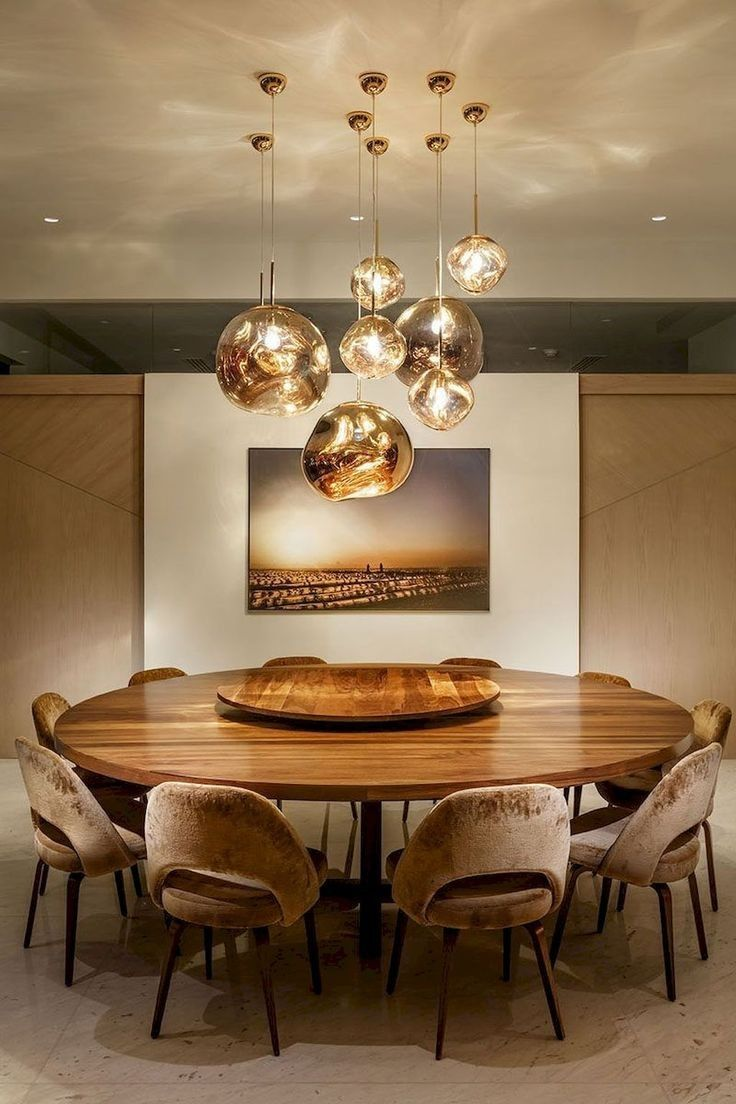 elegant modern chandelier dining room
