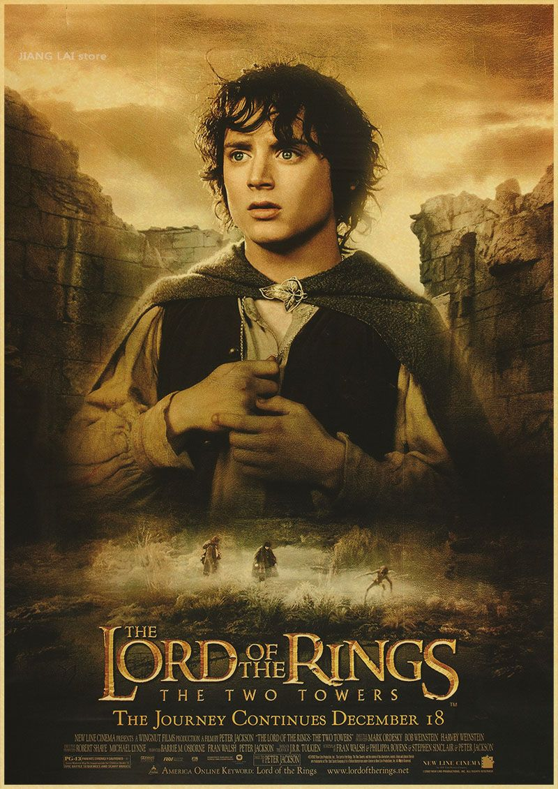 The Lord Of The Rings Classic Movie Kraft Paper Poster Bar Cafe