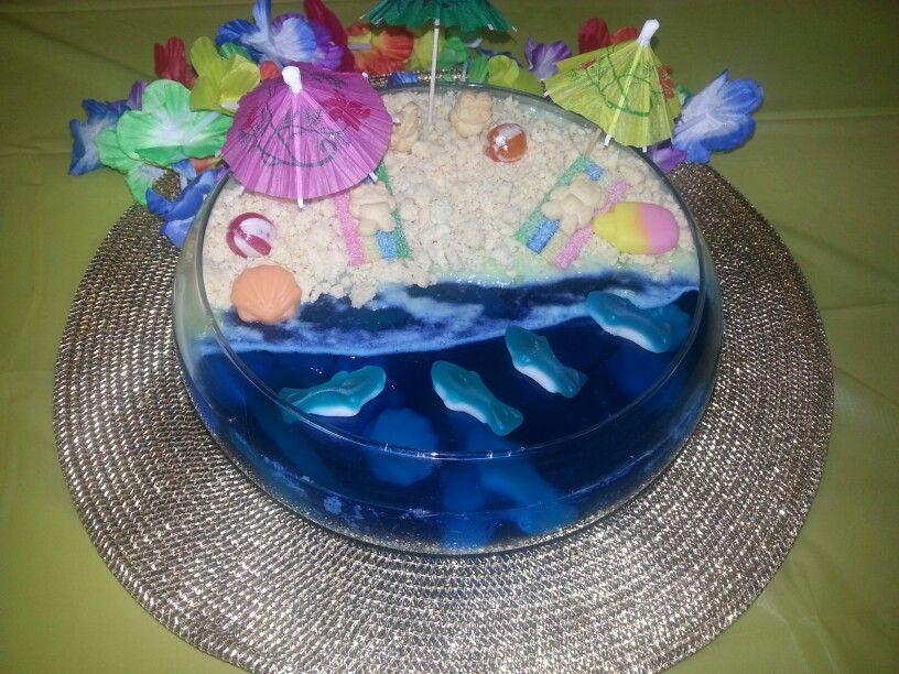 Beach Jelly Cake Jelly Cake Cake Bday Party