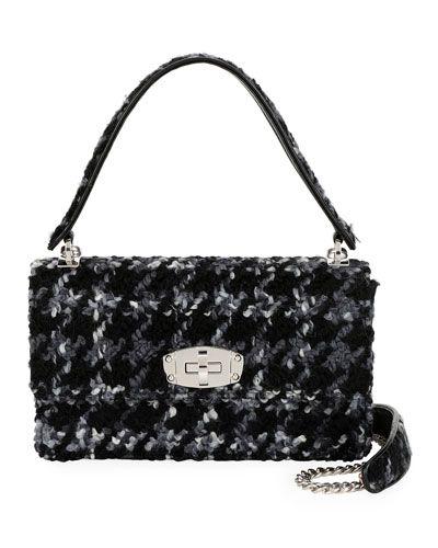 d84663f78a4e Miu Miu Cleo Boucle Top-Handle Shoulder Bag