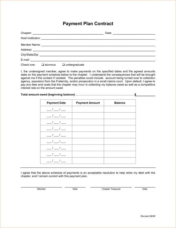 Payment Plan Agreement Template Credit Card Payoff Plan Paying Off Credit Cards Car Payment