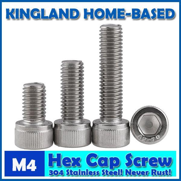 6Pcs M8*16~50mm Left Hand Thread Allen Bolts Socket Cap Screws Kit 304 Stainless