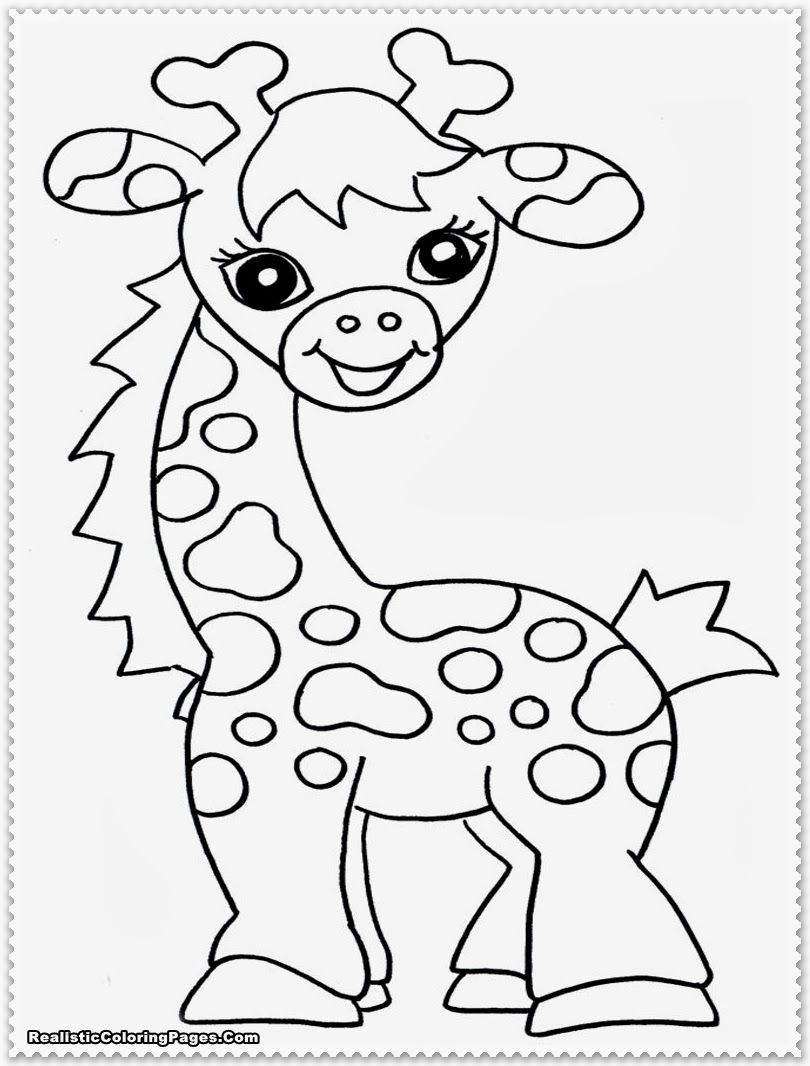Baby Jungle Animals Coloring Pages Viewing Gallery Giraffe Coloring Pages Zoo Animal Coloring Pages Animal Coloring Pages