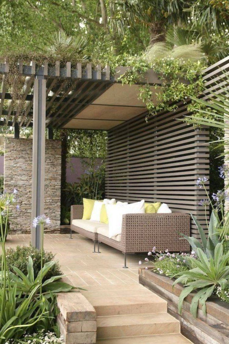 pergola bois moderne en 28 mod les adoss s ou autoport s pour le jardin chic pergolas. Black Bedroom Furniture Sets. Home Design Ideas