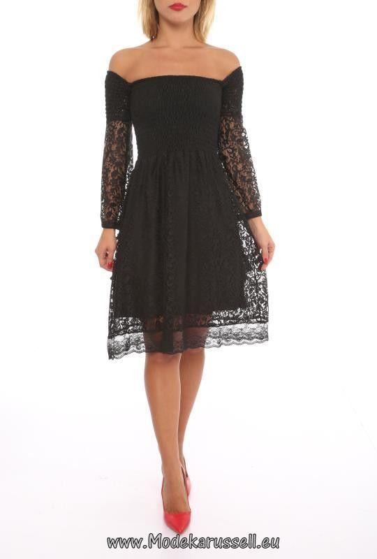 Langarm Spitzen Kleid Schwarz Leonora | MuM 10 Projekt | Pinterest ...