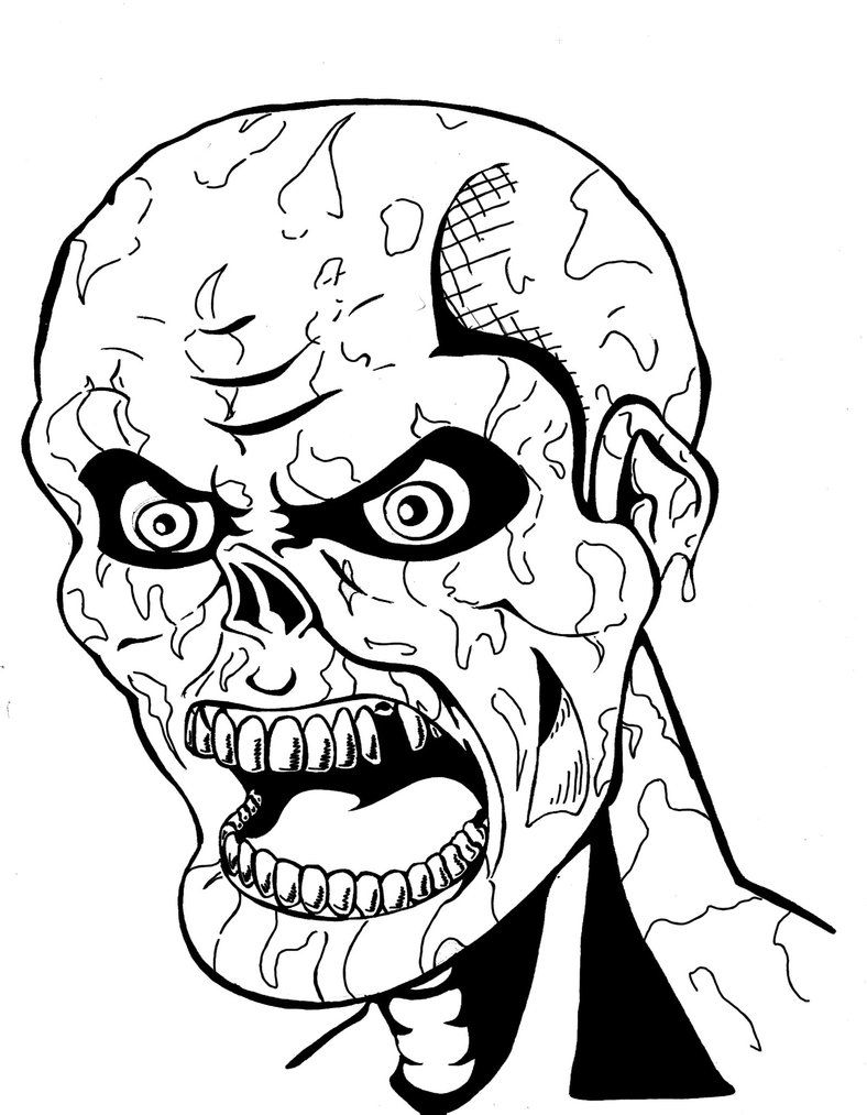 Scary Coloring Pages Scary Coloring Pages Halloween Coloring Pages Monster Coloring Pages