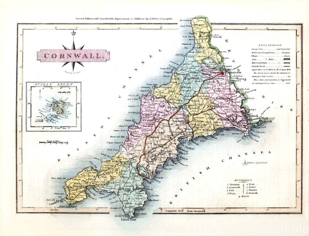 Old Historic County Map of Norfolk S Lewis Vintage 1848 Repro Print Poster A3 A4