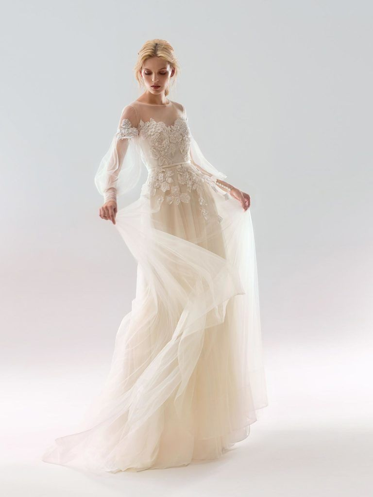 Flowy wedding dress with sleeves  Preview  Wedding Dress Collection  Papilio Boutique