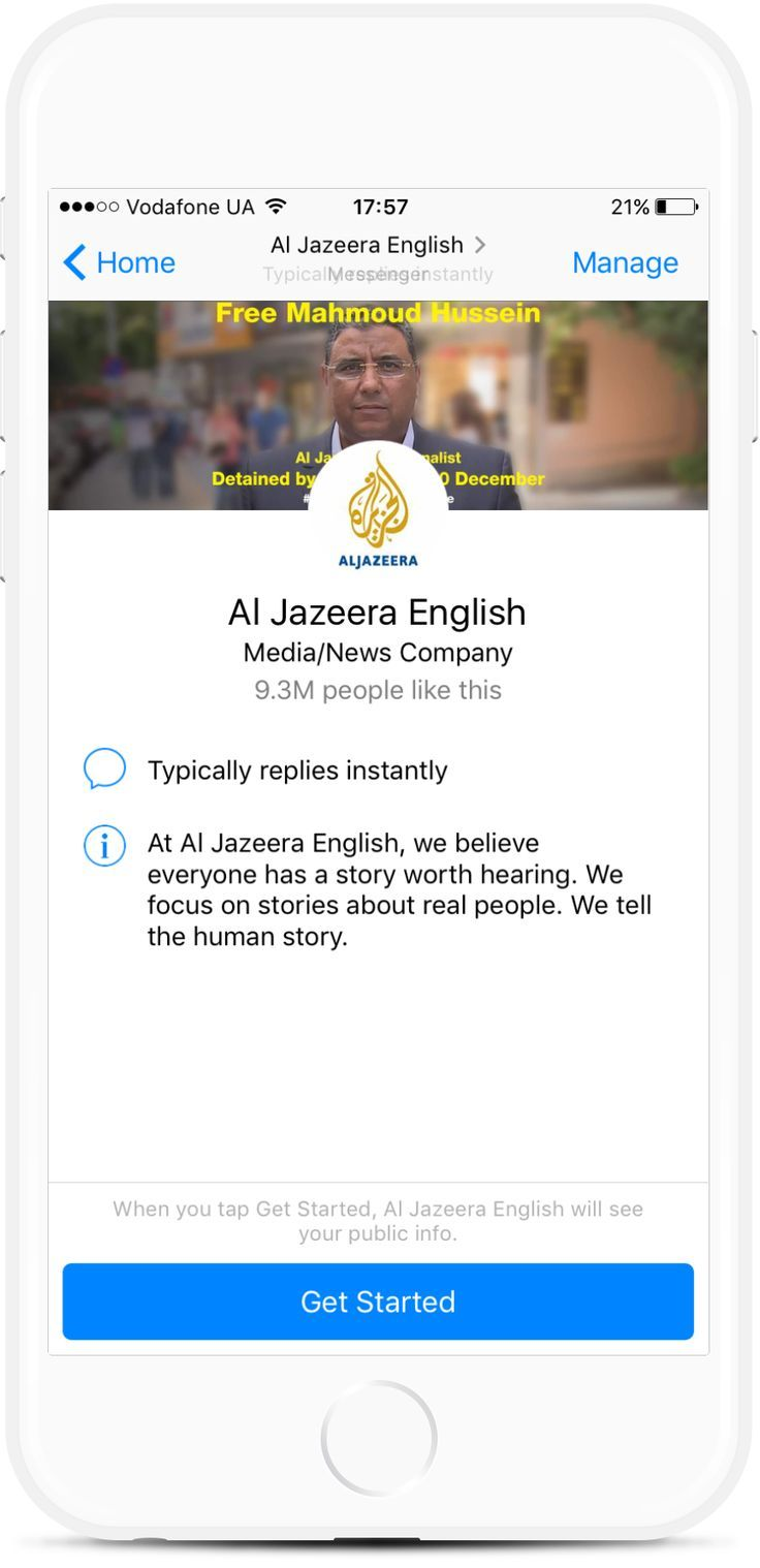 Al Jazeera News Facebook Chatbot for Publications from