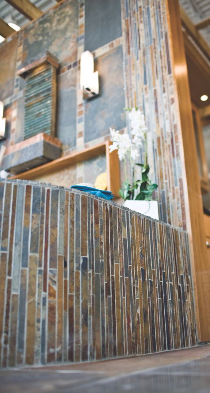 The Beautiful Copper Rust Corinth Mosaic Slate Tile Thetileshop Bathroom Remodel Pictures Bathrooms Remodel Amazing Bathrooms