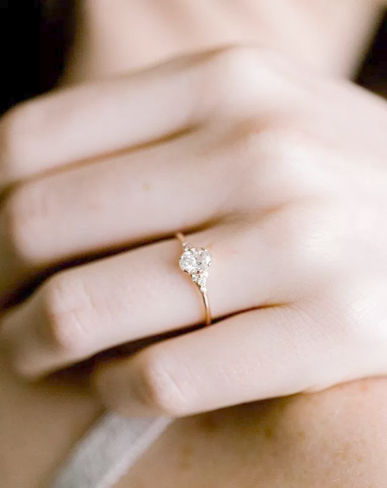 White Moissanite Simulated Diamond Engagement (With images
