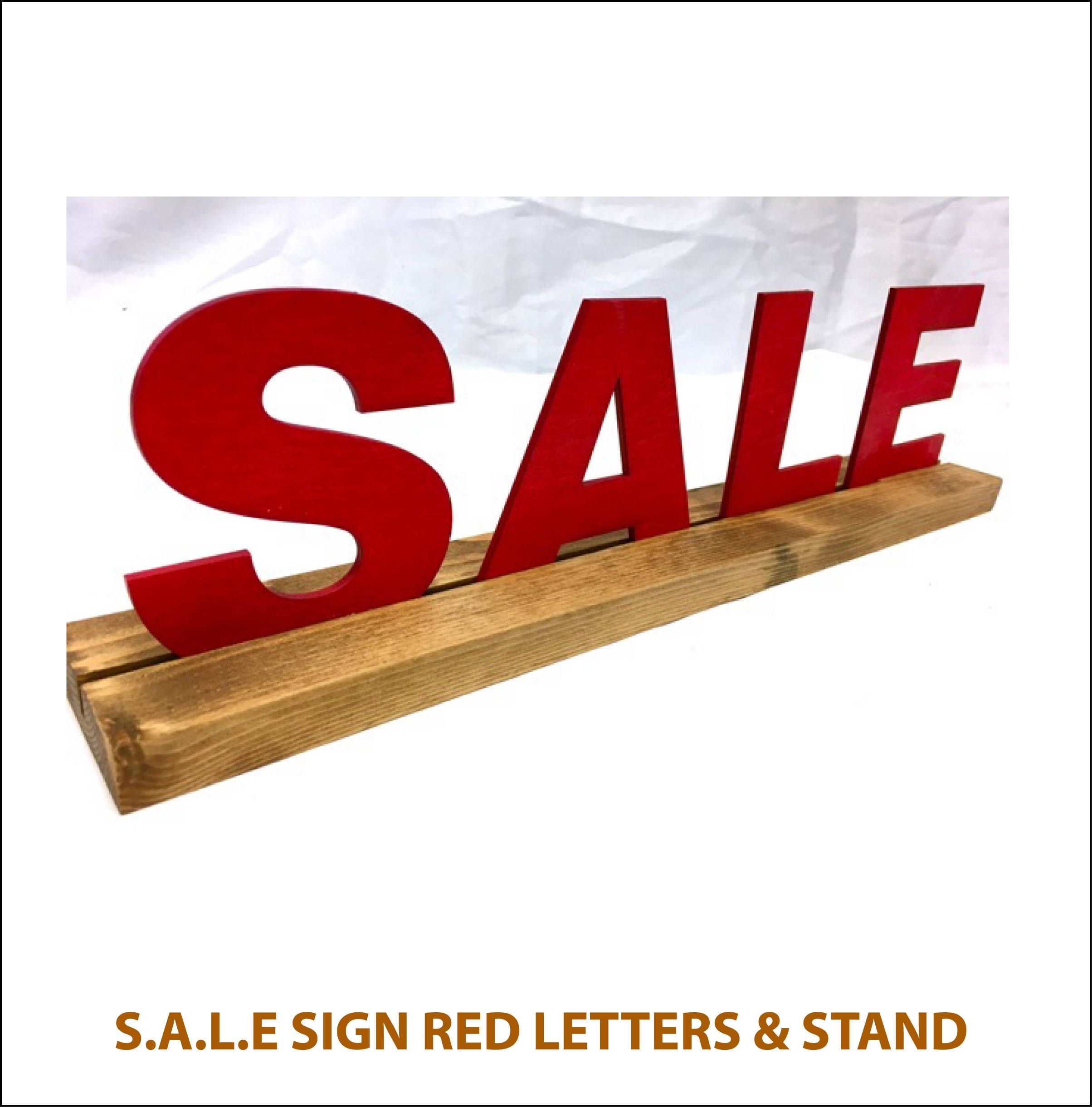 Sign Letters For Sale 10% Off  Sale Sign With Base  3D Sale Sign  Wood Letters In