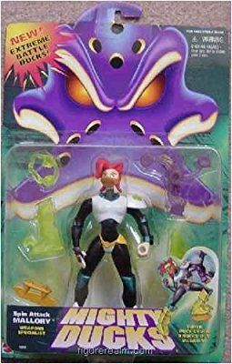 "5"" Spin Attack Mallory Weapons Specialist Action Figure - NEW Extreme Mighty Ducks"