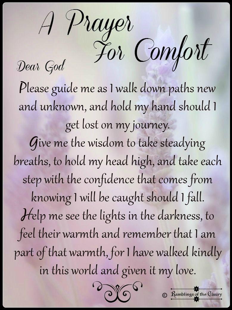 A Prayer For Comfort Prayer For Comfort Prayers Prayer For Guidance