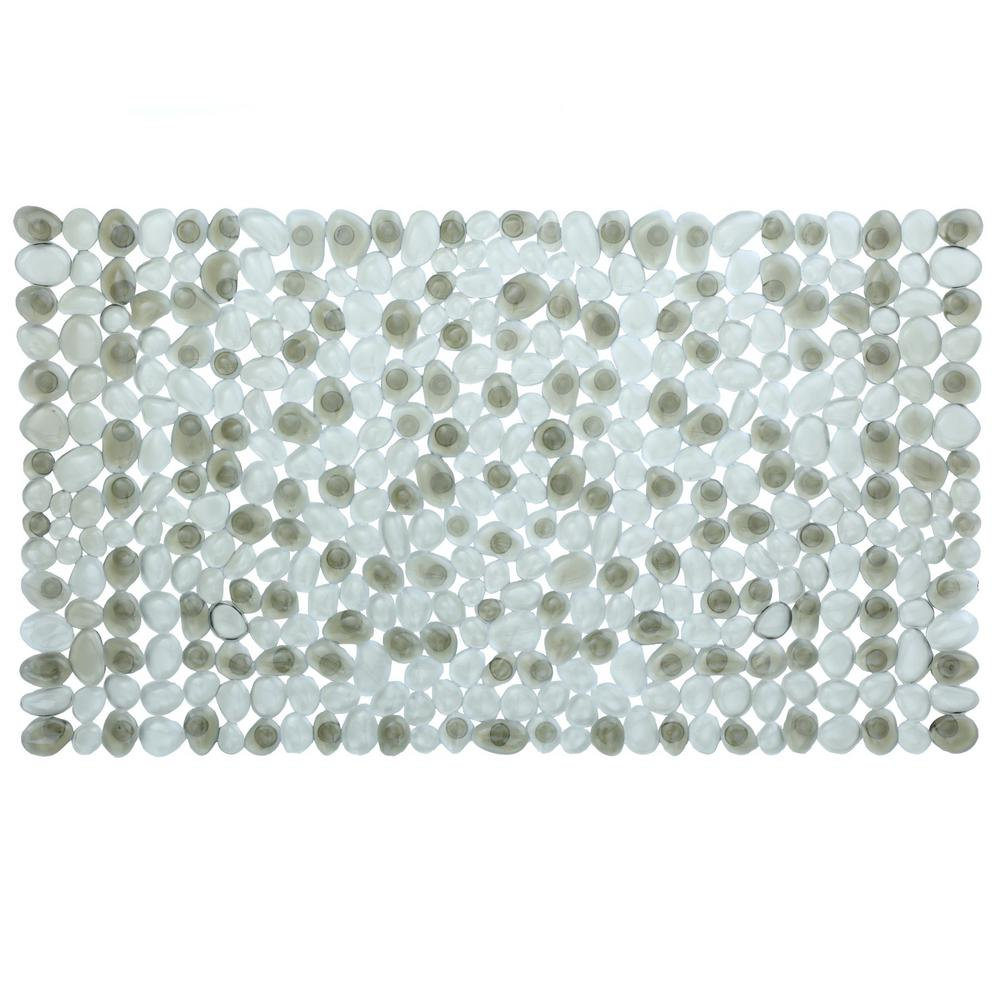 Slipx Solutions 17 In X 30 In Pebble Bath Mat In Gray 06704 1