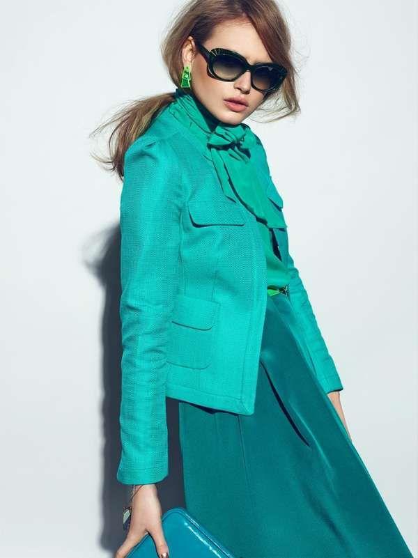 Vibrant Monochromatic Fashion
