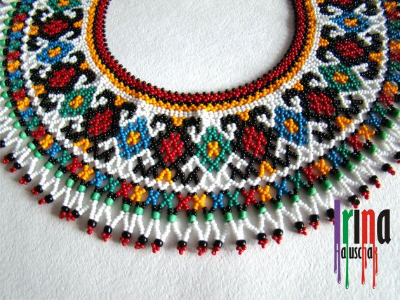 ukrainian traditional necklace beaded collar