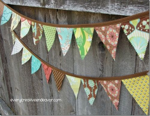 Every Creative Endeavor- Make a Fabric Pennant Banner {Tutorial}