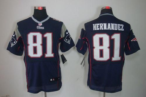 c8acccebf Nike Patriots  81 Aaron Hernandez Navy Blue Team Color Men s Embroidered NFL  Elite Jersey! Only  25.00USD