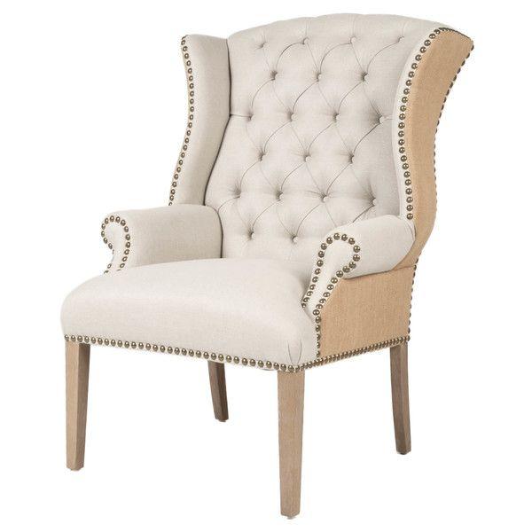Orient Express Furniture Quinn Tufted Wingback Arm Chair