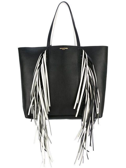 e3685a5ff3c SARA BATTAGLIA Everyday fringed shopper tote. #sarabattaglia #bags #leather  #hand bags #polyester #tote #