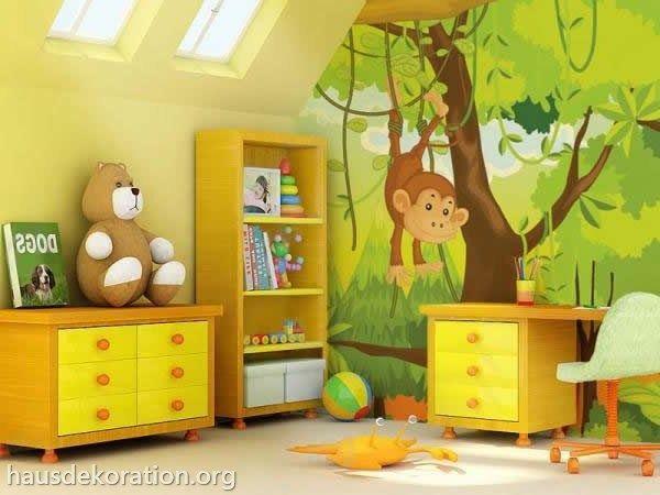 Kinderzimmer wandgestaltung dschungel  kinderzimmer thema dschungel - Google-Suche | Devin's room ...