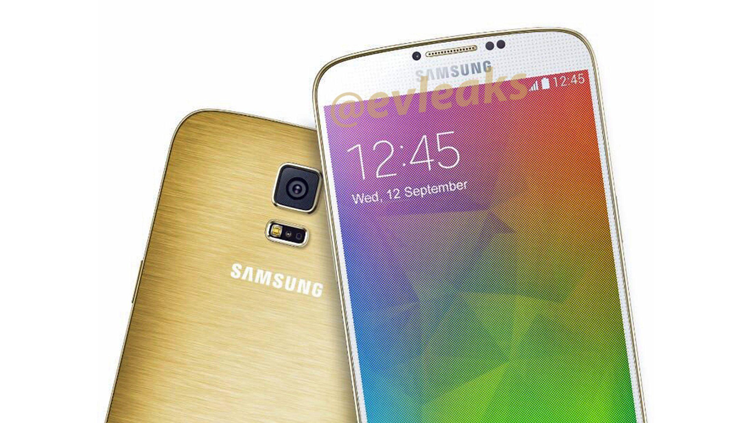 白與金雙色搭配款,Samsung GALAXY F 產品圖片曝光 - http://chinese.vr-zone.com/117822/samsung-galaxy-f-gold-smartphone-picture-leaked-06152014/