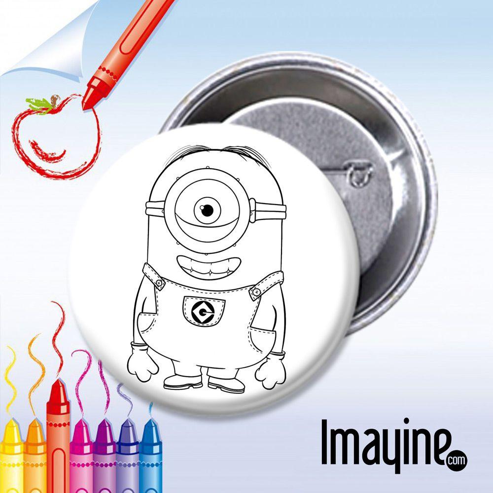 Chapas en blanco o con dibujos para que los niños regalen | Colorear ...