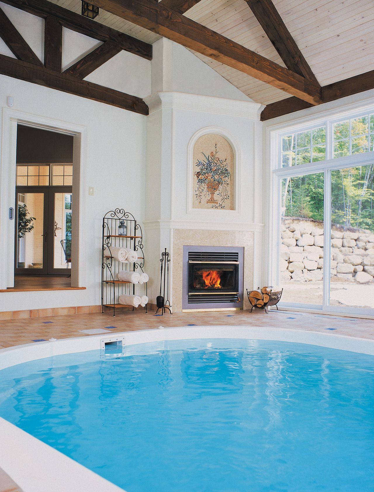Fireplace Architecture Wood Burning Fires House Design Radiant