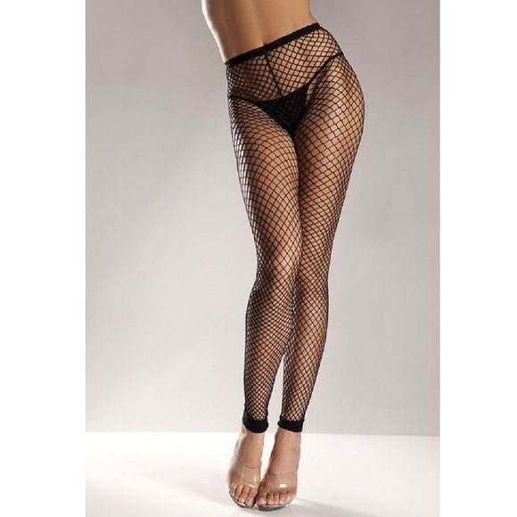 3cbef2c7a71e5 Fishnet Footless Tights Black. OS. 92% Nylon, 8% Spandex Imported. Hand  Wash. Wide net Footless nylon tights. New, no tags. Danskin Accessories  Hosiery & ...