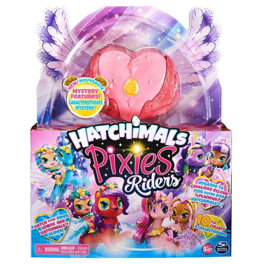 Hatchimals Pixies Riders Fabula Fiona Pixie Pandor Glider Hatchimal Set With Mystery Feature Playset Pixie Hatchimals