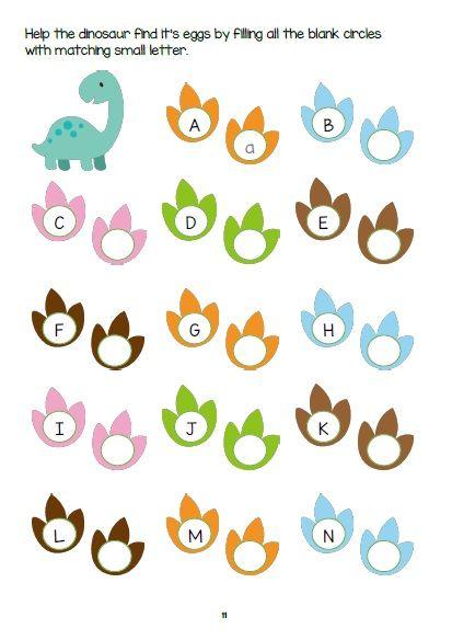 Dinosaur Activity Sheets Cute Printable Bundle For Kids 3-6 Yrs…  Alphabet Activities Preschool, Preschool Learning Activities, Dinosaur  Activities