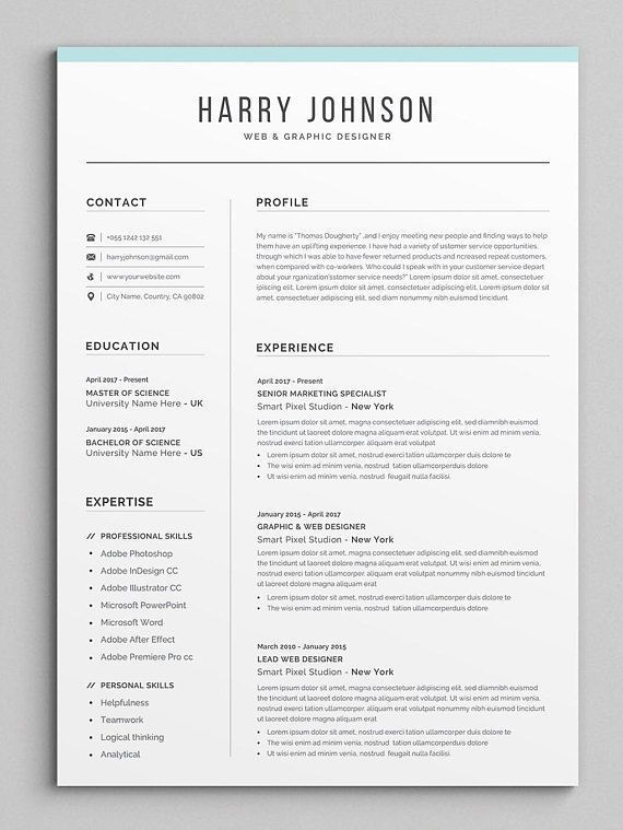 Resume Template | Modern & Professional Resume Template for ...