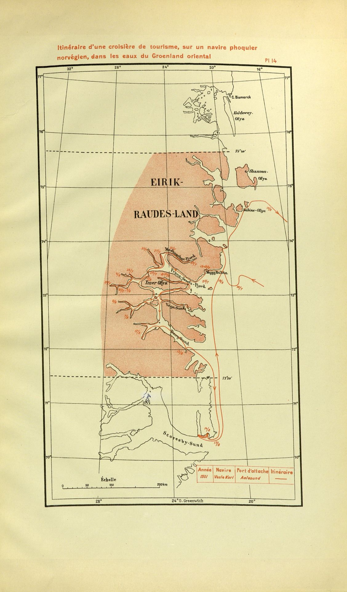 Map Of Eric The Red S Land Norway S Formal Claim In