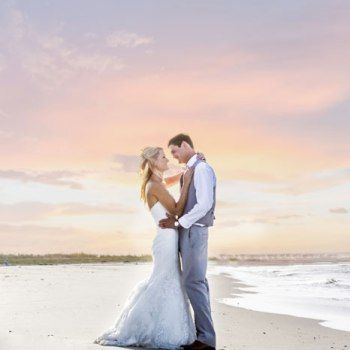 Sunset Beach Wedding Photo - Tybee Wedding Chapel - Photo by Taylor Wedding - Destination Wedding