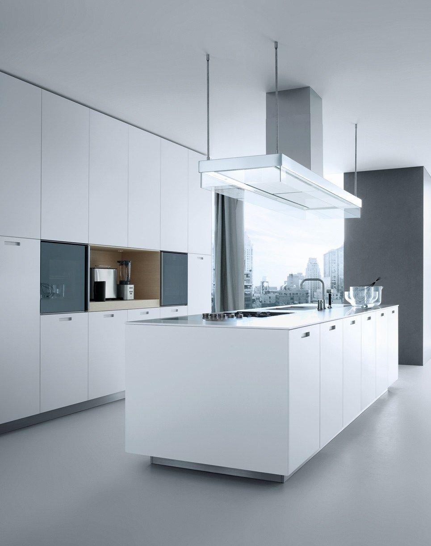 Lacquered linear wooden kitchen kyton by poliformvarenna white furniture design - Ripiani interni cucina ...