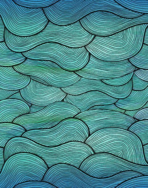 Pattern Illustrations - Pom Graphic Design #seawaves # ...