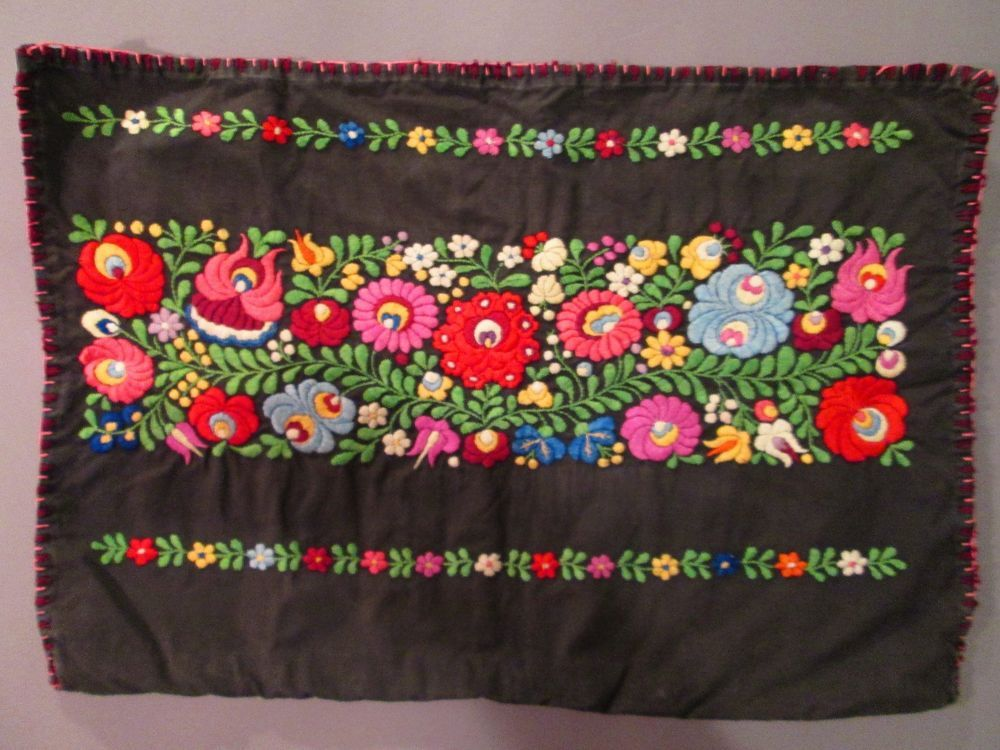 True Vintage Matyo Hungarian Hand Embroidered Pillowcase  #MatyoFolkArt