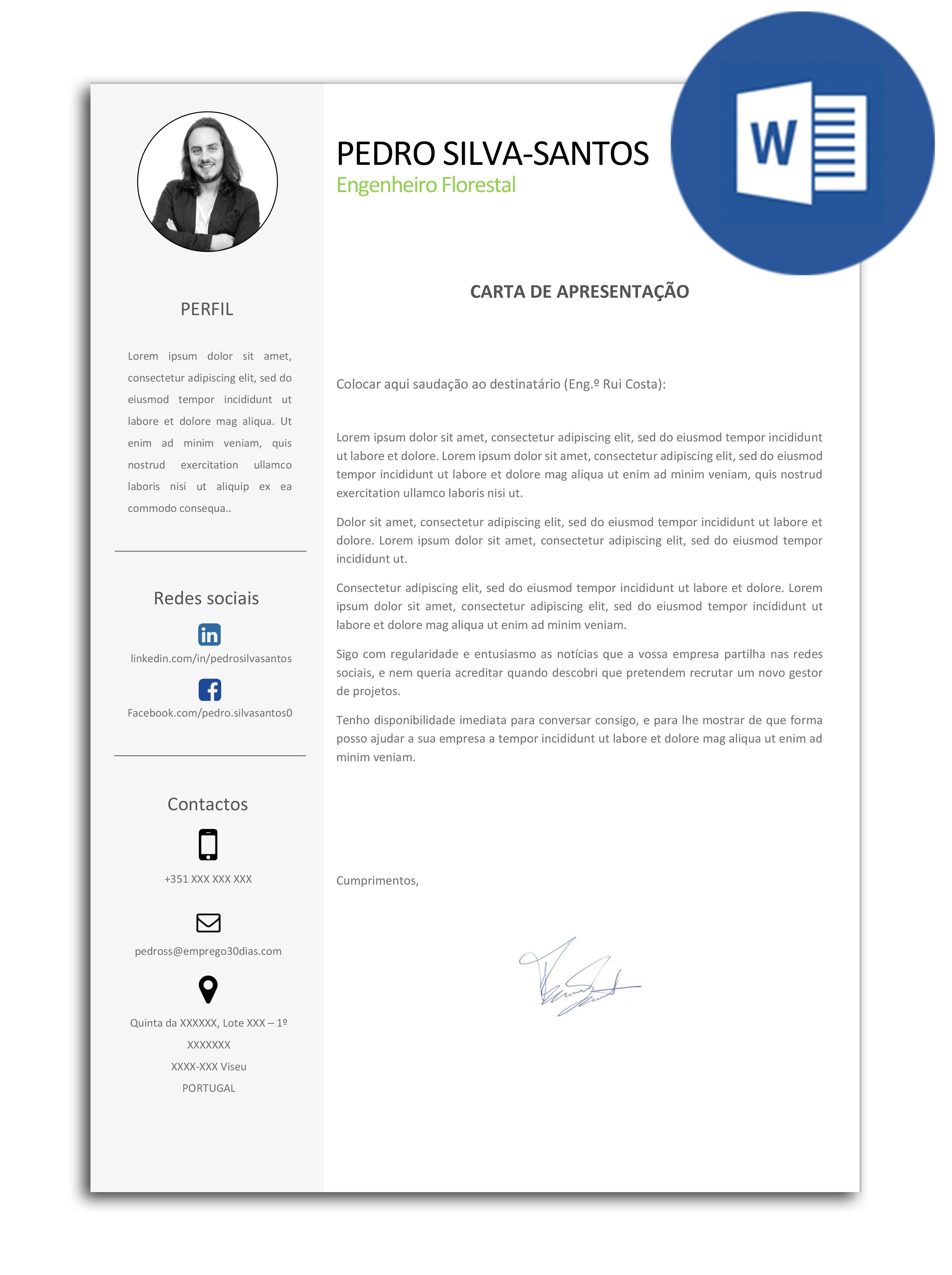 Modelo Exemplo De Carta De Apresenta U00e7 U00e3o