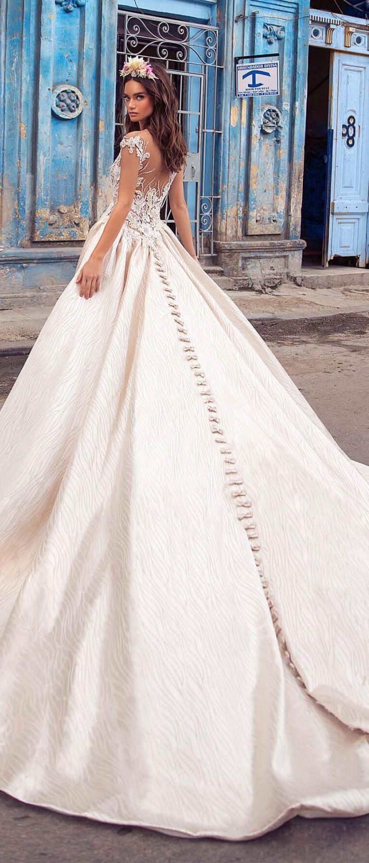 Cap sleeves embellishment bodice ball gown wedding dress