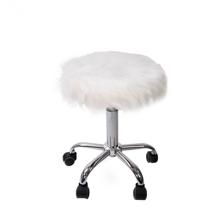 Super Momo Faux Fur Vanity Stool Products Vanity Stool Faux Inzonedesignstudio Interior Chair Design Inzonedesignstudiocom