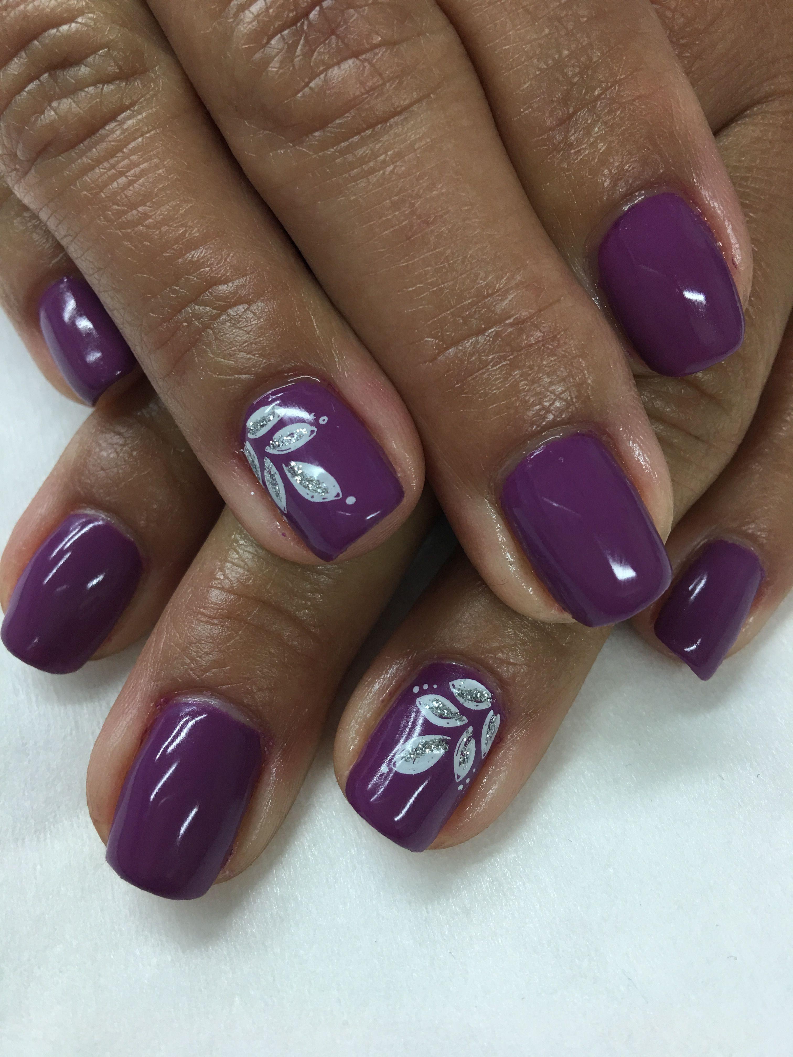 Purple Gel Nails Designs : purple, nails, designs, Purple, Leaves, Nails, Nails,, Designs