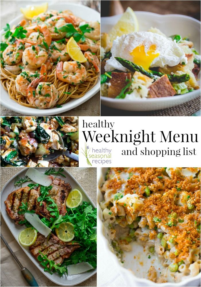 Healthy weeknight menu plan and shopping list on healthy seasonal healthy weeknight menu plan and shopping list on healthy seasonal recipes forumfinder Choice Image