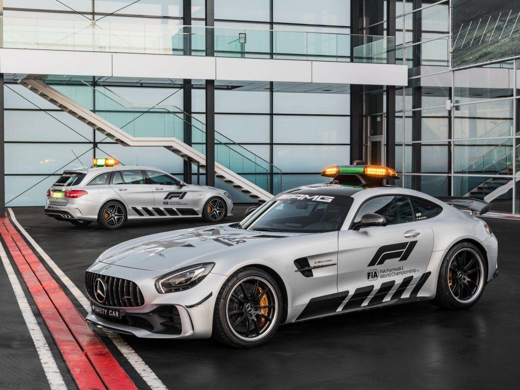 Mercedes Amg Gt R And C Klasse Estate F1 Safety Cars 2018 Wallpaper Mercedes Amg Gt R Mercedes Amg Car Safety