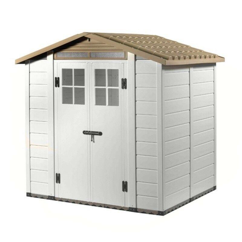 Casetta da giardino box porta attrezzi PVC garden cottage