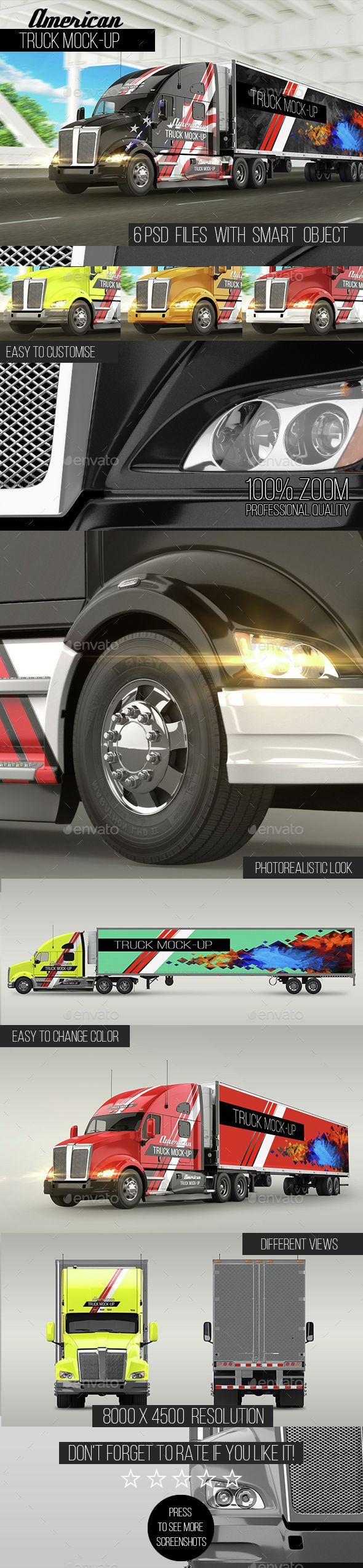 Car sticker design psd - American Truck Mockup Photoshop Psd Car Mockup Available Here Https