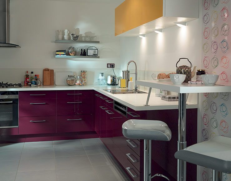 meuble de cuisine gossip aubergine